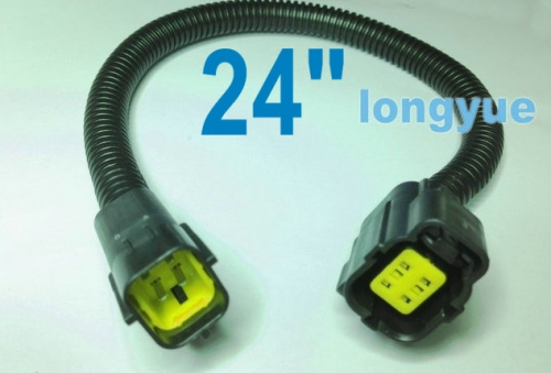 longyue 10pcs Infiniti Jeep Dodge Chrysler Rear Oxygen O2 Sensor Extension Harnesses 24""