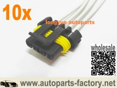 longyue 10pcs GM Neutral Park Switch Wheel and Speed Sensor Repair Connector Pigtail 6""