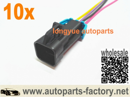longyue 10pcs LS1 Oxygen O2 Sensor Connector Pigtail F-body With Cable 12""