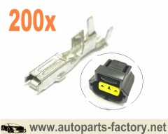 longyue 200pcs Terminals for Ford Alternator Plug and Toyota Coolant Temperature Sensor Connector