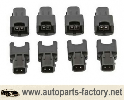 longyue 10pcs Fuel Injector Electrical Connector Adapter EV1 Female to EV6 USCAR to JETRONIC