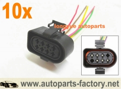 10pcs Transmission Multifunction Plug Pigtail Connector 99-05 VW Jetta Golf MK4 Beetle 3A0973207A 6""