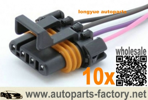 longyue 10pcs D580 LS1 LS6 Ignition Coil Pigtail female connector ACDelco PT368 FLAT 12""