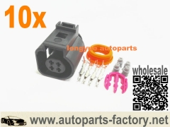 longyue 10set 4-Pin Repair Plug Socket 4B0973712 For VW Jetta Golf Passat Audi A4 4B0 973 712