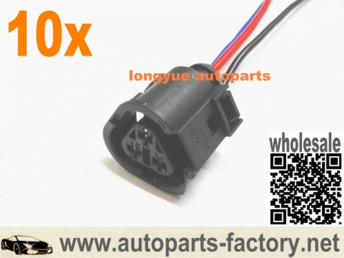 longyue 10pcs 3 way 1J0973203 Audi TT Mk1/8N VW Jetta Radiator Coolant Temp Sensor connector Plug 1J0 973 203