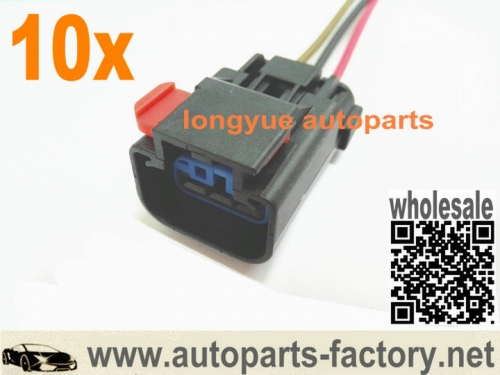 longyue 10pcs Speed Sensor VSS 3 Terminal & Pigtail Connector Plug For Chrysler Dodge Jeep 12""