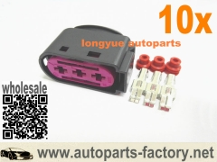 longyue 10kit 3 way/pin VW Beetle Bora Jetta OEM Fuse Box Connector Plug 1J0937773 1J0 937 773