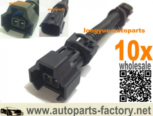 longyue 10pcs GM nippon denso fule injector adapter fit nissan sr20 s13 r32 4""