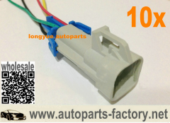 longyue 10pcs Fuel Pump Wiring Harness with Square Connector LS1 OXYGEN SENSOR CONNECTOR PIGTAIL 6""