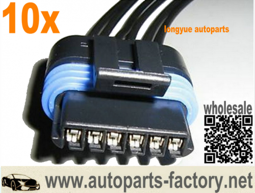 longyue 10pcs 6.5L diesel FSD/PMD Connector Wiring Pigtail 12""