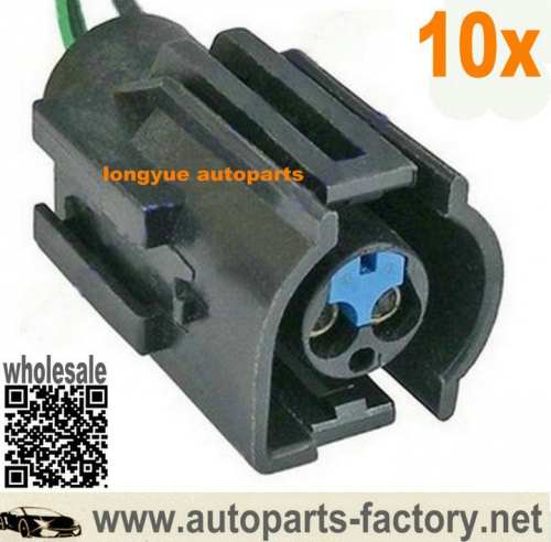 longyue 10pcs Ford 2 Pin Radiator Fan Switch Plug Connector Sierra Cosworth Zetec Escort Focus 6""