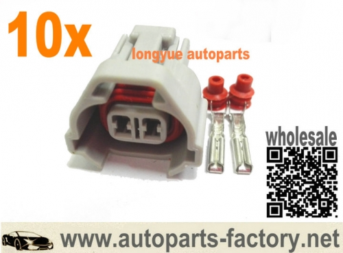 longyue 10set Subaru Side Feed Pigtail NSO Nippon Denso Fuel Injector Connector bottom slot
