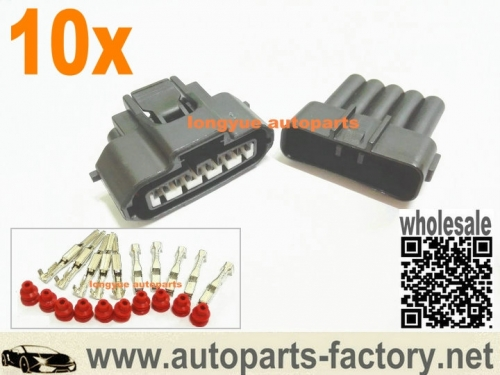 longyue 10kit 5 Pin MAF Sensor Connector Mass Air Flow Engine Plug Fit Toyota Lexus is3