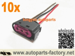 longyue 10pcs 3 way/pin OEM Fuse Box Connector Plug 1J0 937 773 for VW Beetle Bora Jetta
