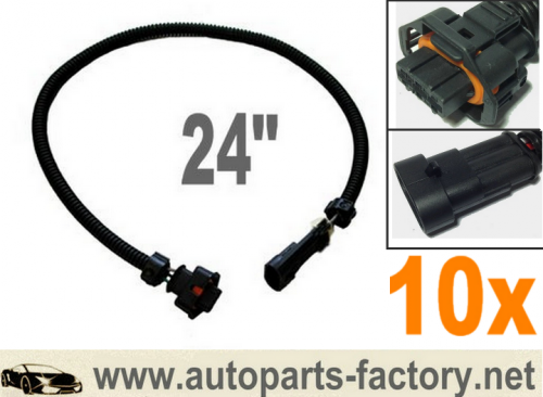 longyue 10pcs LS3 MAP Sensor TO LS2,LS1 MAP  Wiring Harness Adapter 24""