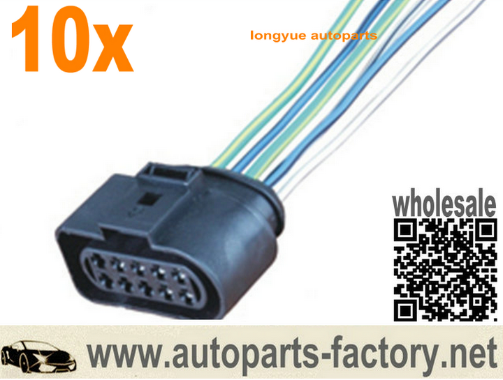 longyue 10pcs 10-pin 6 wire 1J0 973 735 VW Connector wiring harness on vw headlight wiring, vw engine wiring, vw starter wiring, vw beetle carburetor wiring, vw bus regulator wiring, figure 8 cat harness, 2001 jetta dome light harness, vw bus wiring location, dual car stereo wire harness, besi harness, goldfish harness, vw ignition wiring, vw coil wiring, vw alternator wiring, vw wiring kit, vw wiring diagrams, 68 vw wire harness,