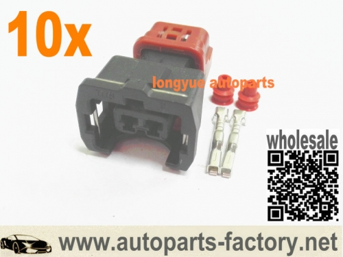 longyue 10kit Nissan Z32 300ZX OEM Style 2-pin Fuel Injector Connector & Terminal Kit
