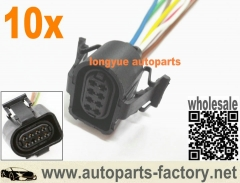 longyue 10pcs 8 way Throttle Body Pigtail 97-01 A4 A6 VW B5 Wiring Plug Connector 8""