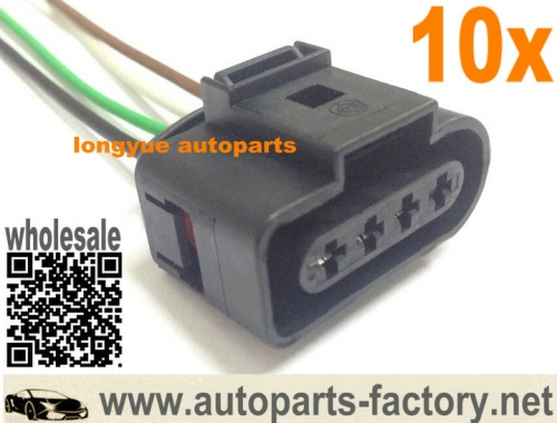 longyue 10pcs Ignition Coil Connector Repair Kit audi A4 A6 VW Harness Plug Wiring 1J0 973 724 1J0973724 6""