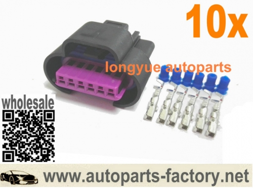 10set/lot 6pin Connector For TPS APPS Throttle Position Sensor Dodge Ram Cummins 98-04 Bell Crank