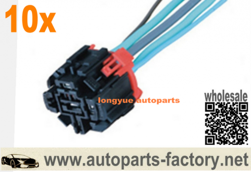 longyue 10pcs 5-pin relay socket Adapter 455 01E 225 Distributor Wiring Harness 45501E225 8""