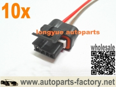 longyue 10pcs GM PICO Wiring Harness Pigtail Alternator 3 Pin GM Replaces 12101895 Ea