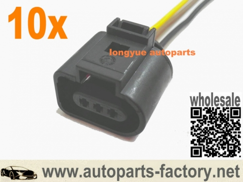10pcs 3 Pin Camshaft Sensor Plug Socket 1J0973703 For Audi VW 02-04 Audi A4 A6 AVK 6""