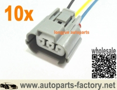 longyue 10pcs VSS Speed Sensor Wiring Plug Pig Tail Integra Accord Civic Acura Honda Pigtail 6""