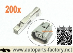 longyue 200pcs terminals fit Vss Speed Sensor Plug Connector Integra Accord Civic Acura Honda
