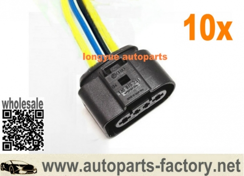 10pcs Fuel Pump Loom Socket Plug Pigtail 1J0 919 231 For Audi A6 S6 C5 99-04 Allroad Beetle 6""