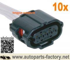 longyue 10pcs 5-way Mass Air Flow MAF Sensor Connector Original Equipment ACDelco PT2268 / GM 19151506 12""