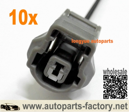longyue 10pcs 1 way Toyota/Lexus Engine Knock Sensor Wiring Connector Pigtail – 1UZ, 1JZ, 2JZ, 3S-GE etc 12""