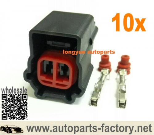 longyue 10pcs 2 Cavity Ford Windshield Washer Pump Repair Connector Kit