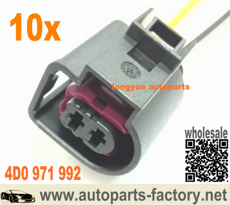 Strange Longyue 2 Pin Pigtail Plug Wiring Connector Vw Jetta Golf Audi A3 Wiring 101 Capemaxxcnl