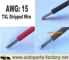"longyue 10pcs 12"" inch 15 Gauge AWG TXL Wire Automotive Loom - Copper - Solid Color - Custom length"