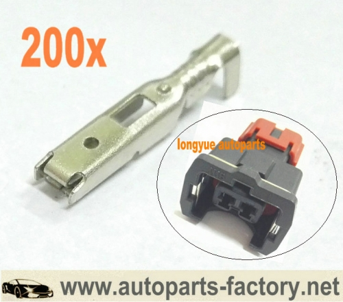 longyue 200pcs GM Terminals for Nissan 300ZX EV1 fuel Injctor Connector,TPS Connector