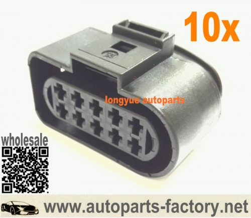 longyue 10pcs 10 way Headlight Head Lamp Plug Connector VW Jetta Rabbit MK5 Audi A6 Allroad 1J0 973 735