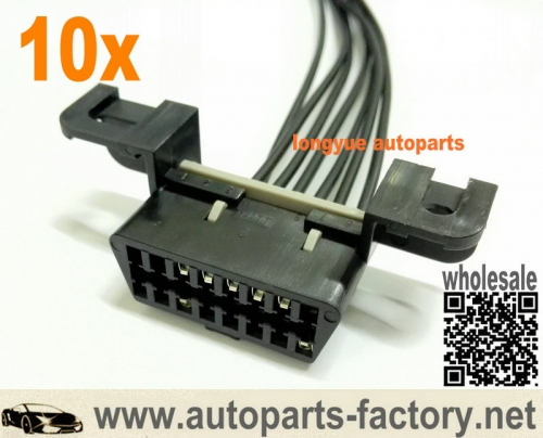 longyue 10pcs Jeep CJ8 Scrambler 5.9L Engine Wiring Harness OBDII OBD2 ALDL Data Link 12""