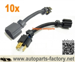 longyue 10pcs 9003 H4 Male to H13 9008 Female Socket Converter Pigtail Harness Adapter JEEP GM 6""