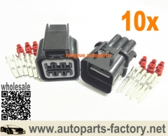 longyue 10set KIA Hyundai Elantra Headlights Lamp Repair Connector Kit 6 Pin Male & Female