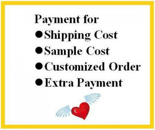 SPECIAL PAYMENT LINK for Extra Fee / Shipping Cost/ Sample Cost /Customized Order payment ,and etc