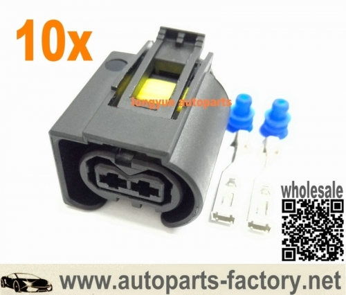 longyue 10pcs 2 way Mercedes Sprinter Diesel Injector Connector Bosch Common Rail Injector Plug