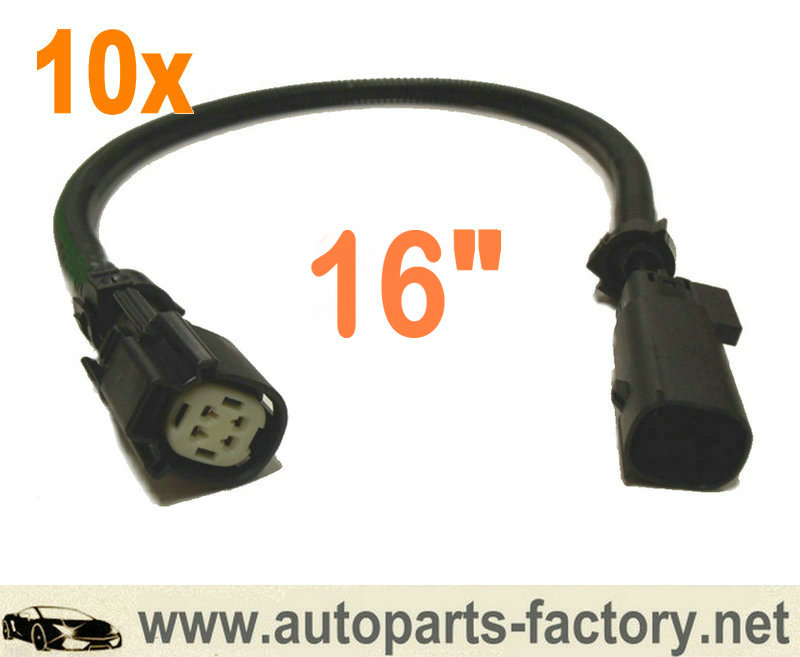 "12/"" Oxygen O2 Sensor Extension Wires Plug Harness For Mustang GT 5.0L"