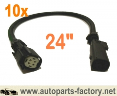 longyue 10pcs O2 Wire Harness Extension 2011-2014 Mustang 3.7l V6/GT And 5.0l V8 24""