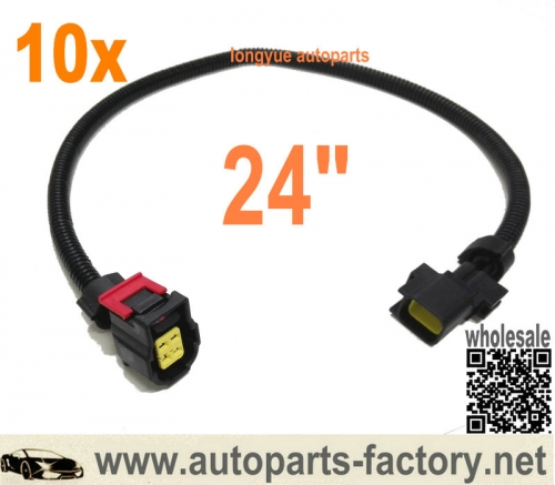 longyue 10pcs 4 way O2 Sensor Wire Harness Fits 01-06 Dodge Viper Dakota Jeep Liberty Wrangler 24""