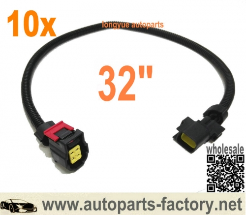 longyue 10pcs 4 way O2 Sensor Wire Harness Fits 01-06 Dodge Viper Dakota Jeep Liberty Wrangler 32""