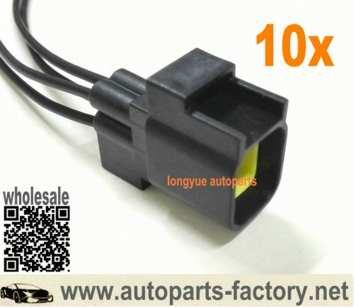 longyue 10pcs GM Male O2 Sensor Connector Pigtail Fits Dodge Viper Dakota Jeep Liberty Wrangler Chrysler 300 Aspen PT Cruiser Magnum 8""