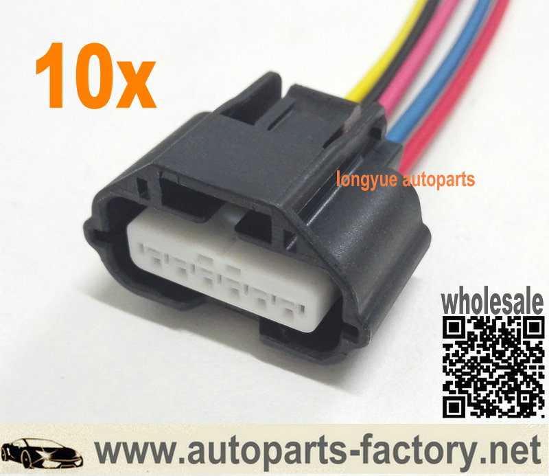 6 pcs Fuel Injector Connector Plug for Nissan Quest Murano Infiniti FX35 M35 G35