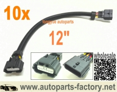 longyue 10pcs 6 Way Nissan Infinity MAF Connector Extension 12