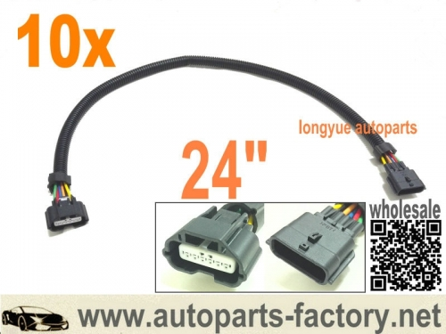 longyue 10pcs 6 Way Nissan Infinity MAF Connector Extension 24""